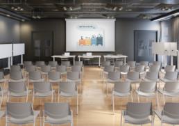 Rendering ambiente Sala conferernza by Diemmebi