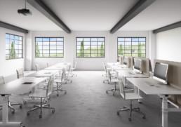 Rendering ambiente ufficio industriale by Diemmebi