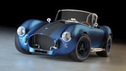 Modellazione 3D Shelby Cobra vista frontale