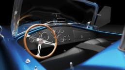 Modellazione 3D Shelby Cobra interno