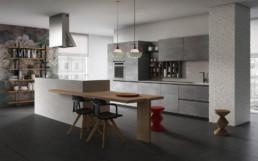 Rendering Cucina modello 6 by Vettoretti