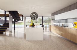 Rendering cucina modello 1 variante inquadratura by Atra Cucine