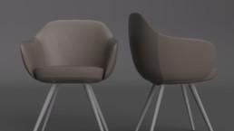 Rendering-poltrona Cadira by Discipline