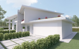 Rendering villa 1 inquadratura autorimessa