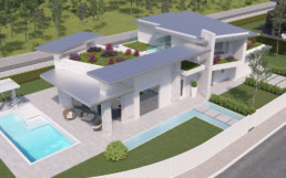 Rendering villa 1 inquadratura 5 aerea