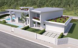 Rendering villa 1 inquadratura 6 aerea