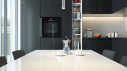 Rendering Villa 1 inquadratura tavolo cucina