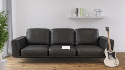 Rendering divano nero